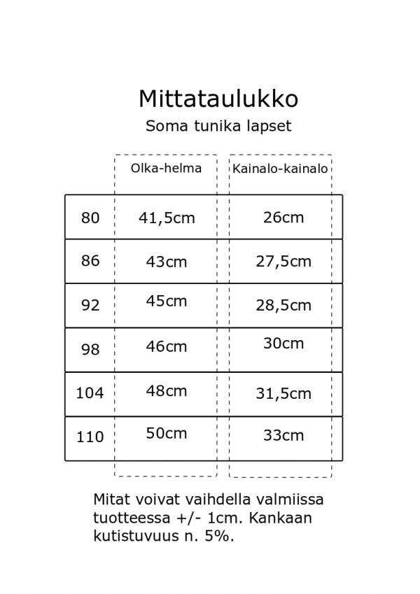 mittataulukko