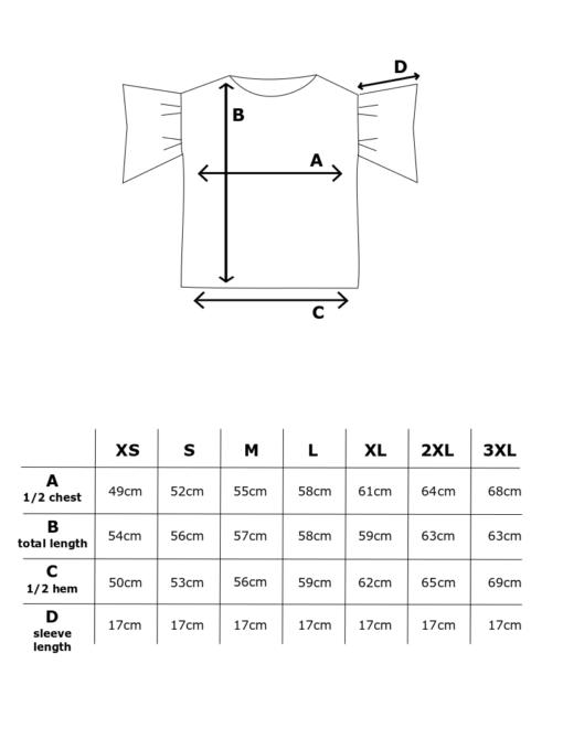 Mittataulukko Hurmaava paita
